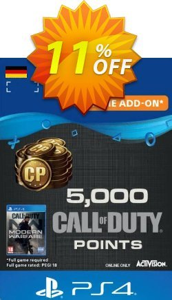 Call of Duty Modern Warfare - 5000 Points PS4 - Germany  Coupon discount Call of Duty Modern Warfare - 5000 Points PS4 (Germany) Deal - Call of Duty Modern Warfare - 5000 Points PS4 (Germany) Exclusive Easter Sale offer for iVoicesoft