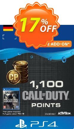 Call of Duty Modern Warfare - 1100 Points PS4 - Germany  Coupon discount Call of Duty Modern Warfare - 1100 Points PS4 (Germany) Deal - Call of Duty Modern Warfare - 1100 Points PS4 (Germany) Exclusive Easter Sale offer for iVoicesoft