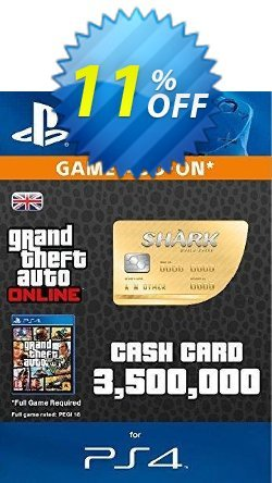 Grand Theft Auto Online - GTA V 5 : Whale Shark Cash Card PS4 Coupon discount Grand Theft Auto Online (GTA V 5): Whale Shark Cash Card PS4 Deal - Grand Theft Auto Online (GTA V 5): Whale Shark Cash Card PS4 Exclusive Easter Sale offer for iVoicesoft