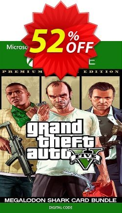 Grand Theft Auto V 5 Premium Online Edition and Megalodon Shark Card Bundle Xbox One - UK  Coupon discount Grand Theft Auto V 5 Premium Online Edition and Megalodon Shark Card Bundle Xbox One (UK) Deal - Grand Theft Auto V 5 Premium Online Edition and Megalodon Shark Card Bundle Xbox One (UK) Exclusive Easter Sale offer for iVoicesoft