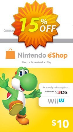 Nintendo eShop Card 10 USD Coupon, discount Nintendo eShop Card 10 USD Deal. Promotion: Nintendo eShop Card 10 USD Exclusive Easter Sale offer for iVoicesoft
