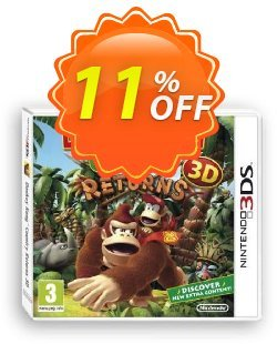 Donkey Kong Country Returns 3D 3DS - Game Code Coupon discount Donkey Kong Country Returns 3D 3DS - Game Code Deal. Promotion: Donkey Kong Country Returns 3D 3DS - Game Code Exclusive Easter Sale offer for iVoicesoft