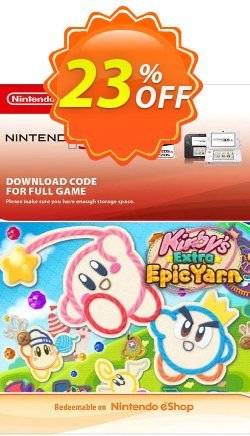 Kirby's Extra Epic Yarn 3DS Coupon discount Kirby's Extra Epic Yarn 3DS Deal - Kirby's Extra Epic Yarn 3DS Exclusive Easter Sale offer for iVoicesoft