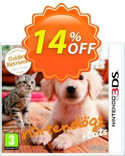 Nintendogs + Cats - Golden Retriever + New Friends 3DS - Game Code Coupon discount Nintendogs + Cats - Golden Retriever + New Friends 3DS - Game Code Deal. Promotion: Nintendogs + Cats - Golden Retriever + New Friends 3DS - Game Code Exclusive Easter Sale offer for iVoicesoft