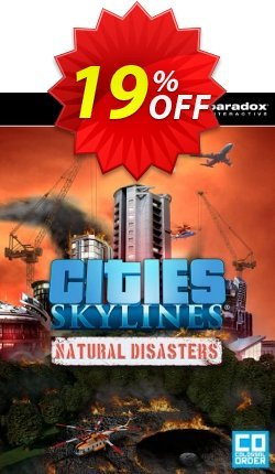 Cities: Skylines Natural Disasters PC Coupon discount Cities: Skylines Natural Disasters PC Deal - Cities: Skylines Natural Disasters PC Exclusive offer for iVoicesoft