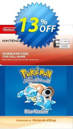 Pokemon Blue Edition - UK 3DS Coupon discount Pokemon Blue Edition (UK) 3DS Deal - Pokemon Blue Edition (UK) 3DS Exclusive Easter Sale offer for iVoicesoft