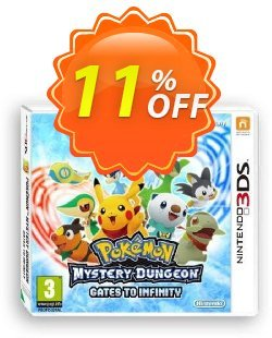 Pokemon Mystery Dungeon: Gates to Infinity 3DS - Game Code Coupon discount Pokemon Mystery Dungeon: Gates to Infinity 3DS - Game Code Deal. Promotion: Pokemon Mystery Dungeon: Gates to Infinity 3DS - Game Code Exclusive Easter Sale offer for iVoicesoft