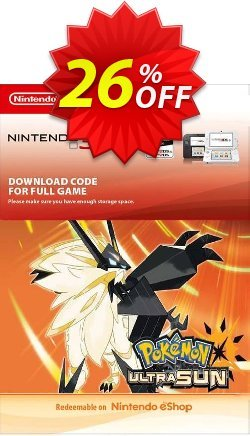 Pokemon Ultra Sun 3DS Coupon discount Pokemon Ultra Sun 3DS Deal. Promotion: Pokemon Ultra Sun 3DS Exclusive Easter Sale offer for iVoicesoft