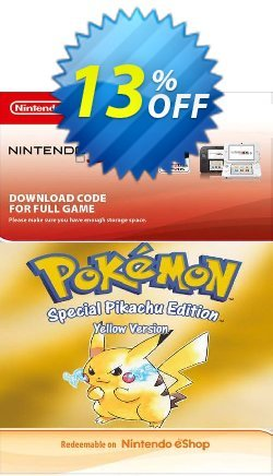 Pokemon Yellow Edition - Spain 3DS Coupon discount Pokemon Yellow Edition (Spain) 3DS Deal - Pokemon Yellow Edition (Spain) 3DS Exclusive Easter Sale offer for iVoicesoft
