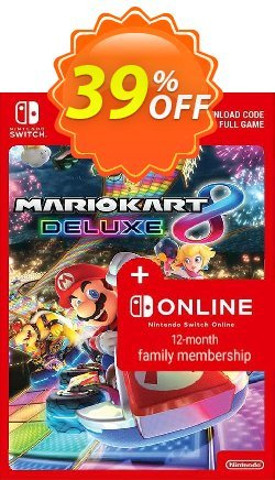 Mario Kart 8 Deluxe + 12 Month Family Membership Switch - EU  Coupon discount Mario Kart 8 Deluxe + 12 Month Family Membership Switch (EU) Deal - Mario Kart 8 Deluxe + 12 Month Family Membership Switch (EU) Exclusive Easter Sale offer for iVoicesoft
