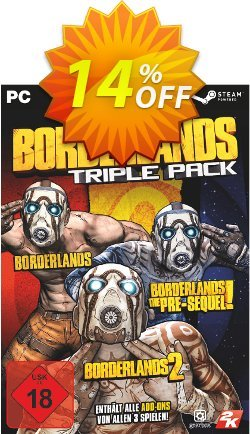 Borderlands: Triple Pack PC Coupon discount Borderlands: Triple Pack PC Deal - Borderlands: Triple Pack PC Exclusive Easter Sale offer for iVoicesoft