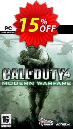 Call of Duty 4 Modern Warfare PC Coupon discount Call of Duty 4 Modern Warfare PC Deal - Call of Duty 4 Modern Warfare PC Exclusive Easter Sale offer for iVoicesoft