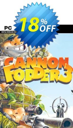 Cannon Fodder 3 PC Coupon discount Cannon Fodder 3 PC Deal - Cannon Fodder 3 PC Exclusive Easter Sale offer for iVoicesoft