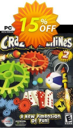 Crazy Machines 2 PC Coupon discount Crazy Machines 2 PC Deal - Crazy Machines 2 PC Exclusive Easter Sale offer for iVoicesoft