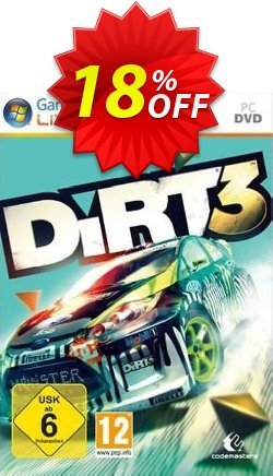 DiRT 3 PC Coupon discount DiRT 3 PC Deal - DiRT 3 PC Exclusive Easter Sale offer for iVoicesoft