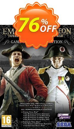 Empire and Napoleon Total War Collection - Game of the Year - PC  Coupon discount Empire and Napoleon Total War Collection - Game of the Year (PC) Deal - Empire and Napoleon Total War Collection - Game of the Year (PC) Exclusive Easter Sale offer for iVoicesoft