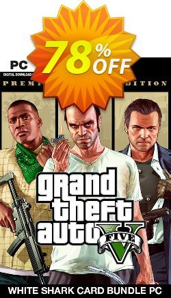Grand Theft Auto V: Premium Online Edition & White Shark Card Bundle PC Coupon discount Grand Theft Auto V: Premium Online Edition & White Shark Card Bundle PC Deal - Grand Theft Auto V: Premium Online Edition & White Shark Card Bundle PC Exclusive Easter Sale offer for iVoicesoft