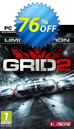Grid 2 Limited Edition PC Coupon discount Grid 2 Limited Edition PC Deal - Grid 2 Limited Edition PC Exclusive Easter Sale offer for iVoicesoft