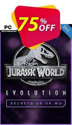 Jurassic World Evolution PC: Secrets of Dr Wu DLC Coupon discount Jurassic World Evolution PC: Secrets of Dr Wu DLC Deal - Jurassic World Evolution PC: Secrets of Dr Wu DLC Exclusive Easter Sale offer for iVoicesoft