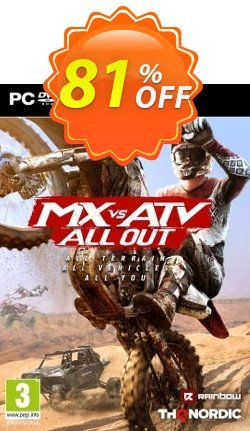 MX vs ATV All Out PC Coupon discount MX vs ATV All Out PC Deal - MX vs ATV All Out PC Exclusive Easter Sale offer for iVoicesoft