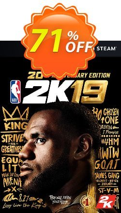 NBA 2K19 20th Anniversary Edition PC - EU  Coupon discount NBA 2K19 20th Anniversary Edition PC (EU) Deal - NBA 2K19 20th Anniversary Edition PC (EU) Exclusive Easter Sale offer for iVoicesoft