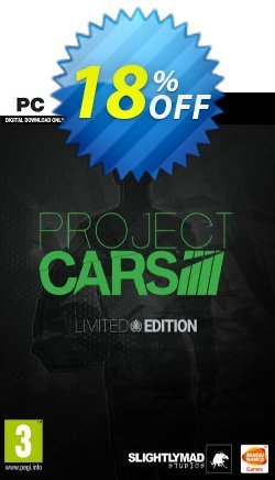 Project CARS Limited Edition PC Coupon discount Project CARS Limited Edition PC Deal - Project CARS Limited Edition PC Exclusive Easter Sale offer for iVoicesoft