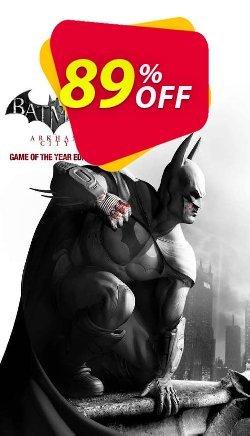 Batman Arkham City GOTY - PC  Coupon discount Batman Arkham City GOTY (PC) Deal - Batman Arkham City GOTY (PC) Exclusive offer for iVoicesoft