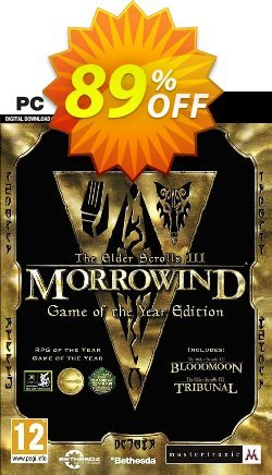 The Elder Scrolls III Morrowind Game of the Year Edition PC Coupon discount The Elder Scrolls III Morrowind Game of the Year Edition PC Deal - The Elder Scrolls III Morrowind Game of the Year Edition PC Exclusive Easter Sale offer for iVoicesoft