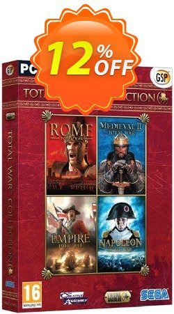 Total War Collection PC Coupon discount Total War Collection PC Deal - Total War Collection PC Exclusive Easter Sale offer for iVoicesoft