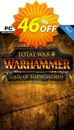 Total War WARHAMMER – Call of the Beastmen Campaign Pack DLC Coupon discount Total War WARHAMMER – Call of the Beastmen Campaign Pack DLC Deal - Total War WARHAMMER – Call of the Beastmen Campaign Pack DLC Exclusive Easter Sale offer for iVoicesoft