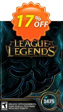 League of Legends: 1475 Riot Points Card Coupon discount League of Legends: 1475 Riot Points Card Deal - League of Legends: 1475 Riot Points Card Exclusive Easter Sale offer for iVoicesoft