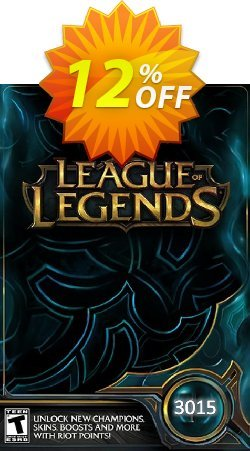 League of Legends: 3015 Riot Points Card Coupon discount League of Legends: 3015 Riot Points Card Deal - League of Legends: 3015 Riot Points Card Exclusive Easter Sale offer for iVoicesoft