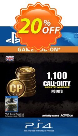 Call of Duty - COD Infinite Warfare - 1100 Points PS4 Coupon discount Call of Duty (COD) Infinite Warfare - 1100 Points PS4 Deal - Call of Duty (COD) Infinite Warfare - 1100 Points PS4 Exclusive Easter Sale offer for iVoicesoft