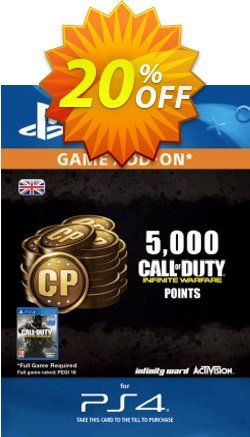 Call of Duty - COD Infinite Warfare - 5000 Points PS4 Coupon discount Call of Duty (COD) Infinite Warfare - 5000 Points PS4 Deal - Call of Duty (COD) Infinite Warfare - 5000 Points PS4 Exclusive Easter Sale offer for iVoicesoft