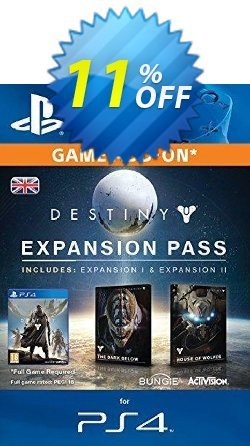 Destiny Expansion Pass PS4 Coupon discount Destiny Expansion Pass PS4 Deal - Destiny Expansion Pass PS4 Exclusive Easter Sale offer for iVoicesoft