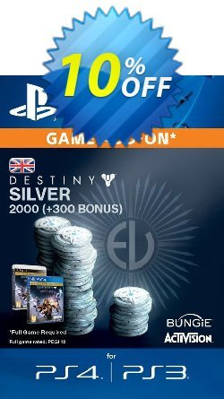 Destiny Silver 2000 - 300 PS4 Coupon discount Destiny Silver 2000 (300) PS4 Deal - Destiny Silver 2000 (300) PS4 Exclusive Easter Sale offer for iVoicesoft