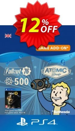 Fallout 76 - 500 Atoms PS4 Coupon discount Fallout 76 - 500 Atoms PS4 Deal - Fallout 76 - 500 Atoms PS4 Exclusive Easter Sale offer for iVoicesoft