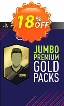 FIFA 18 PS3 - 5 Jumbo Premium Gold Packs DLC Coupon discount FIFA 18 PS3 - 5 Jumbo Premium Gold Packs DLC Deal - FIFA 18 PS3 - 5 Jumbo Premium Gold Packs DLC Exclusive Easter Sale offer for iVoicesoft