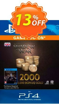 Middle-Earth: Shadow of War - 2200 Gold PS4 Coupon discount Middle-Earth: Shadow of War - 2200 Gold PS4 Deal - Middle-Earth: Shadow of War - 2200 Gold PS4 Exclusive Easter Sale offer for iVoicesoft