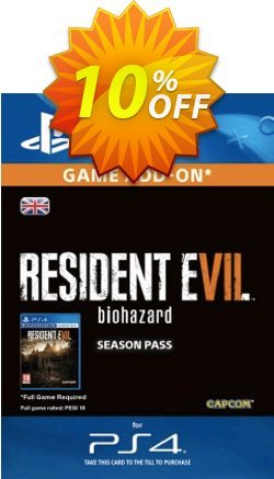 Resident Evil 7 - Biohazard Season Pass PS4 Coupon discount Resident Evil 7 - Biohazard Season Pass PS4 Deal - Resident Evil 7 - Biohazard Season Pass PS4 Exclusive Easter Sale offer for iVoicesoft