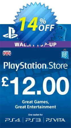 PlayStation Network Card - £12 - PS Vita/PS3/PS4  Coupon discount PlayStation Network Card - £12 (PS Vita/PS3/PS4) Deal - PlayStation Network Card - £12 (PS Vita/PS3/PS4) Exclusive Easter Sale offer for iVoicesoft