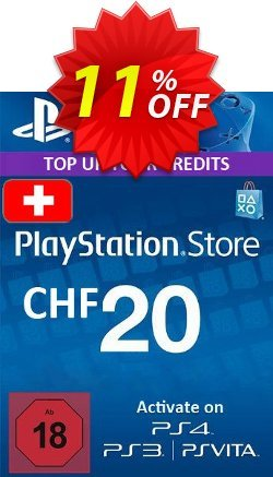 PlayStation Network - PSN Card - 20 CHF - Switzerland  Coupon discount PlayStation Network (PSN) Card - 20 CHF (Switzerland) Deal - PlayStation Network (PSN) Card - 20 CHF (Switzerland) Exclusive Easter Sale offer for iVoicesoft