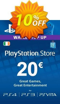 PlayStation Network - PSN Card - 20 EUR - Ireland  Coupon discount PlayStation Network (PSN) Card - 20 EUR (Ireland) Deal - PlayStation Network (PSN) Card - 20 EUR (Ireland) Exclusive Easter Sale offer for iVoicesoft