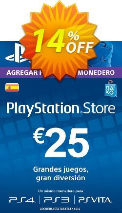 PlayStation Network - PSN Card - 25 EUR - Spain  Coupon discount PlayStation Network (PSN) Card - 25 EUR (Spain) Deal - PlayStation Network (PSN) Card - 25 EUR (Spain) Exclusive Easter Sale offer for iVoicesoft