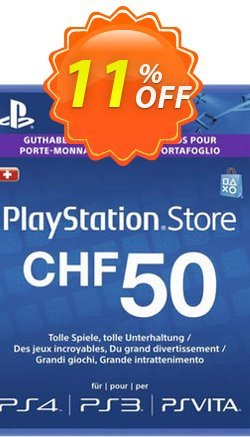 PlayStation Network - PSN Card - 50 CHF - Switzerland  Coupon discount PlayStation Network (PSN) Card - 50 CHF (Switzerland) Deal - PlayStation Network (PSN) Card - 50 CHF (Switzerland) Exclusive Easter Sale offer for iVoicesoft