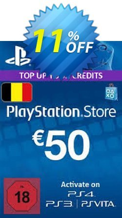 PlayStation Network - PSN Card - 50 EUR - Belgium  Coupon discount PlayStation Network (PSN) Card - 50 EUR (Belgium) Deal - PlayStation Network (PSN) Card - 50 EUR (Belgium) Exclusive Easter Sale offer for iVoicesoft