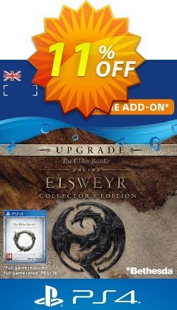 The Elder Scrolls Online: Elsweyr Collectors Edition Upgrade PS4 Coupon discount The Elder Scrolls Online: Elsweyr Collectors Edition Upgrade PS4 Deal - The Elder Scrolls Online: Elsweyr Collectors Edition Upgrade PS4 Exclusive Easter Sale offer for iVoicesoft