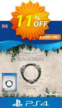 The Elder Scrolls Online: Summerset Collector's Upgrade PS4 - UK  Coupon discount The Elder Scrolls Online: Summerset Collector's Upgrade PS4 (UK) Deal - The Elder Scrolls Online: Summerset Collector's Upgrade PS4 (UK) Exclusive Easter Sale offer for iVoicesoft