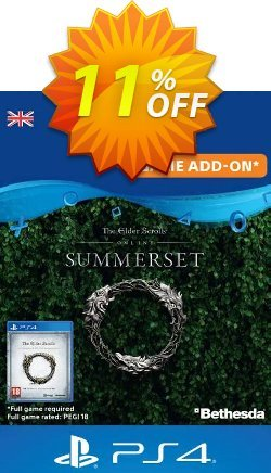 The Elder Scrolls Online: Summerset Upgrade Edition PS4 - UK  Coupon discount The Elder Scrolls Online: Summerset Upgrade Edition PS4 (UK) Deal - The Elder Scrolls Online: Summerset Upgrade Edition PS4 (UK) Exclusive Easter Sale offer for iVoicesoft