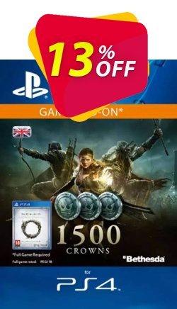 The Elder Scrolls Online: Tamriel Unlimited - 1500 Crowns PS4 - UK  Coupon discount The Elder Scrolls Online: Tamriel Unlimited - 1500 Crowns PS4 (UK) Deal - The Elder Scrolls Online: Tamriel Unlimited - 1500 Crowns PS4 (UK) Exclusive Easter Sale offer for iVoicesoft